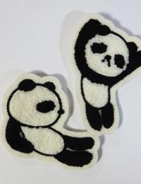 【ワッペン】モコモコ赤ちゃんパンダ