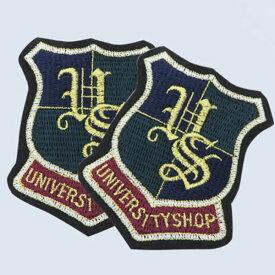 【ワッペン】エンブレム(University shop)ワッペン 【 商用利用可 】【 入園入学セール 特別価格 】