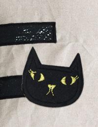 【ワッペン】Gold_cat_ワッペン/キャラクターワッペン