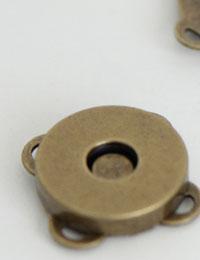 【ボタン】花マグネットボタン(アンティークゴールド15mm)
