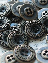【ボタン】メタルマジックボタン(2個)