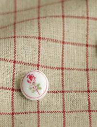 【ボタン】Red_Rose_ボタン(2個)