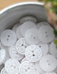 【ボタン】タンポポワイトボタン(2個セット)