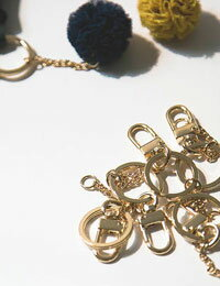 【チャーム】Gold_Key_Ring