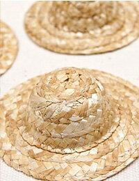 【チャーム】75mmミニ麦わら帽子