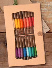 【糸】フジックス・MOCO紙箱セットC(手縫いステッチ糸MOCO・モコカラー20色セット)