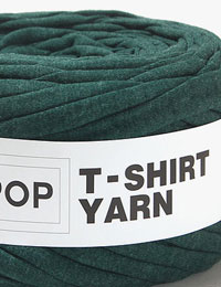 【Tシャツヤーン】DARK_GREEN_BOKASHI_無地/モノポップMONOPOPTシャツヤーン/ズパゲッティスタイル