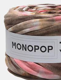 【Tシャツヤーン】多色染めチョコピンク(MULTI_TIE_DYE_CHOCO_PINK)モノポップMONOPOPTシャツヤー
