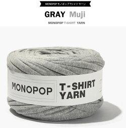 グレー(GRAY_MUji)モノポップMONOPOPTシャツヤーン