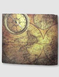 【Paperwalletペーパーウォレット】Antique Map二つ折り財布【Printed on DuPont™Tyvek®】★完成品★