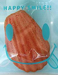 【ラッピング袋】10cm_スマイル(3種類)/OPP透明ビニル袋粘着シール付