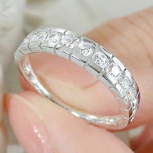pt900【0.5ct】ダイヤモンドふちありエタニティリング