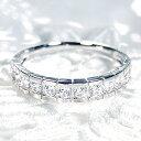 【送料無料】pt900 0.5ct ダイヤモンド ふちあり エタニティリング 無色透明【SIクラス】プラチナ 婚約指輪 結婚指輪 人気 ハーフエ…