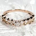 【送料無料】K10WG/PG 0.10ct 一粒ダイヤモンド リング 無色透明【SIクラス 】透かし ゴールド おしゃれ OL 上品 可愛い ハート 人気 …