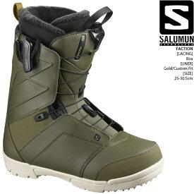 [特典アリ][対象商品とSETでお得][日本正規品]スノーボード ブーツ サロモン ファクション 2021 SALOMON FACTION Olive Night スノボー 20-21 男性 メンズ