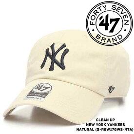 [大特価]フォーティーセブンブランド ニューヨーク ヤンキース 帽子 キャップ 47BRAND 47 Clean Up New York YANKEES ベースボールキャップ ハット メジャーリーグ MLB sale セール ds-Y ▲[ホワイト][ベージュ]