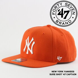 47BRAND NEW YORK YANKEES SURE SHOT '47 CAPTAIN B-SRS17WBP-OR ニューヨーク ヤンキース 帽子 キャップ ベースボールキャップ ハット フォーティーセブンブランド メジャーリーグ MLB スナップバック ds-Y