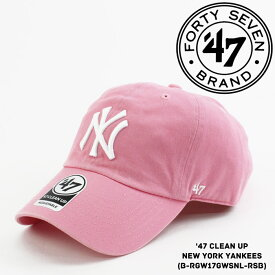 [大特価]フォーティーセブンブランド ニューヨーク ヤンキース 帽子 キャップ 47BRAND '47 Clean Up New York YANKEES ベースボールキャップ ハット メジャーリーグ MLB スナップバック sale セール ds-Y ▲[ピンク]
