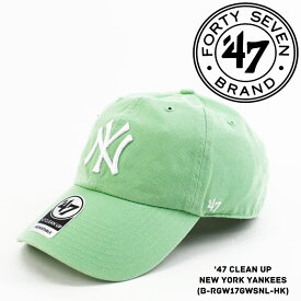 [大特価]フォーティーセブンブランド ニューヨーク ヤンキース 帽子 キャップ 47BRAND '47 Clean Up New York YANKEES ベースボールキャップ ハット メジャーリーグ MLB スナップバック sale セール ds-Y ▲[グリーン]
