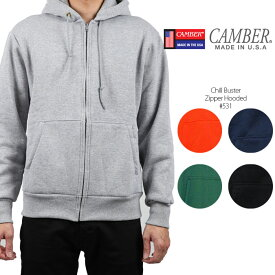 キャンバー ヘビーウェイトパーカー CAMBER Chill Buster Zipper Hooded #531 サーマル 肉厚パーカー 裏地 超肉厚 頑丈 メンズ 男性 ▲[ブラック][グレー][ブルー][グリーン][オレンジ]