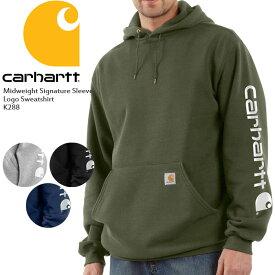 カーハート パーカー CARHARTT Midweight Signature Sleeve Logo Hooded Logo Sweatshirt K288 フーディー ブランドロゴ