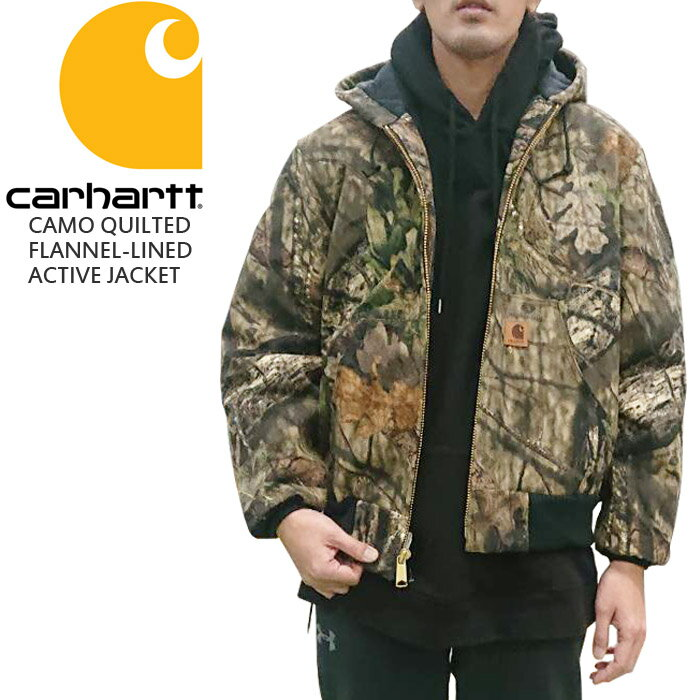 CARHARTT Carhartt CAMO QUILTED FLANNEL-LINED ACTIVE JACKET Mossy OakR Break-Up Country カーハート フランネル アクティブジャケット リアルカモ リアルツリーカモ ダック