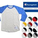 【DM便 送料無料】【再入荷】Champion RAGLAN BB TEE BASEBALL T SHIRTS T137 チャンピオン ラグラン ベースボール Tシャツ ds-Y