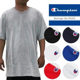 58e9572f あす楽]Champion Heritage Tee CT1919 チャンピオン 無地T ヘリテージ ベースボール Tシャツ