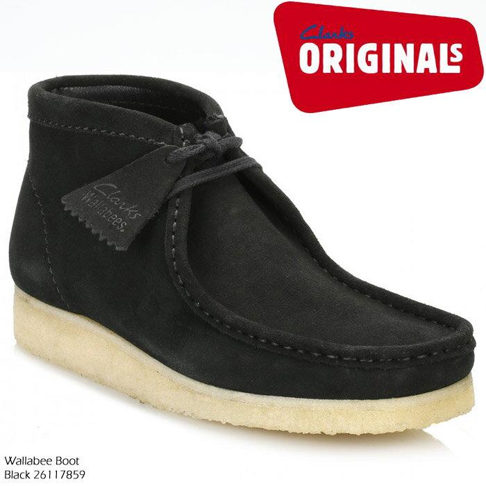 クラークス CLARKS Wallabee Boot Black 26117859 ワラビー ビースワックス レザー ブーツ カジュアル シューズ 革靴【USサイズ】 ds-Y
