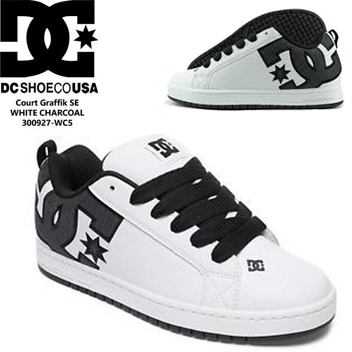 DC SHOE CT Court Graffik SE WHITE CHARCOAL 300927-WC5 コートグラフィック 白 ホワイト スケートボード スケーター スケシュー スニーカー SB 【S2】ds-Y