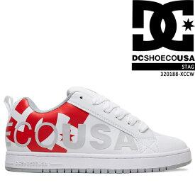[特典アリ/セットで割引]ディーシー スニーカー 靴 DC Shoe COURT GRAFFIK SE White Red Grey 300927-WR6 コートグラフィックSE スケシュー スケートボード スケボー ダッドシューズ ダッドスニーカー メンズ 男性 ▲[ホワイト][レッド]ds-Y