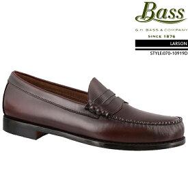 [送料無料]ジーエイチバス GHバス コインローファー G.H Bass LARSON Brush off leather 070-10919D ラーソン ローファー ビジネスシューズ 革靴▲[レッド]ds-Y