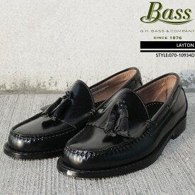 [特典アリ/セットで割引]ジーエイチバス GHバス コインローファー 革靴 G.H Bass LAYTON Brush off leather レイトン タッセル ローファー ビジネスシューズ メンズ 男性▲[ブラック][ZRC]