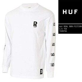 [送料無料]ハフ 長袖Tシャツ ロンT HUF × REAL NON-FICTION L/S TEE TS00761 リアル コラボ スケート SB スケートボード