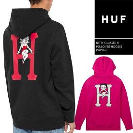 [送料無料]ハフ × ベティーブープ プルオーバーフーディー huf BETTY CLASSIC H P/O HOODIE PF00265 ハフ スケート SB スケートボード パーカー
