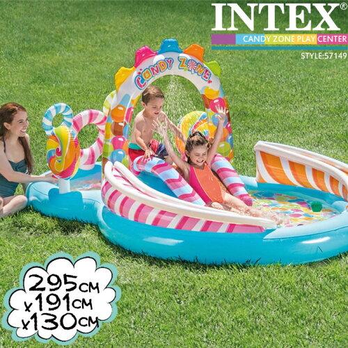 [送料無料]INTEXキャンディプレイセンター295×191×13057149インテックス大型プール滑り台つきds-Y