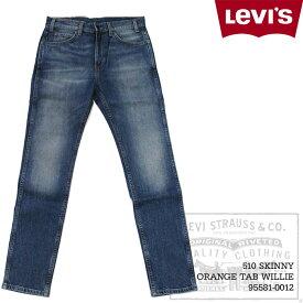 リーバイス デニム ジーンズ Levis 510 SKINNY ORANGE TAB WILLIE 29989-0001 スキニー リーバイス510 オレンジタブ 復刻 レプリカ 5ポケットパンツ Levi's メンズ パンツ