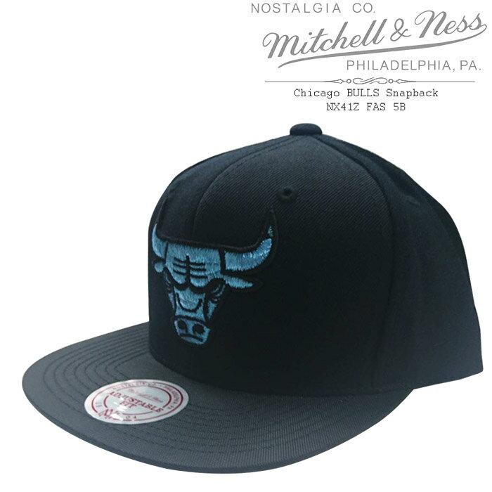 [あす楽]MITCHELL & NESS Chicago BULLS ミッチェル&ネス シカゴ ブルズ 青ロゴ NBAキャップ 帽子 スナップバック