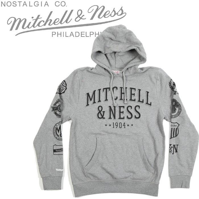 [あす楽]MITCHELL & NESS Mitchell & Ness Pullover Hoody ミッチェル&ネス ブランドネーム パーカー プルオーバー