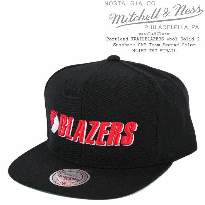 [あす楽]MITCHELL & NESS Portland TRAILBLAZERS Wool Solid 2 Snapback CAP Team Second Color ミッチェル&ネス スナップバックキャップ 帽子 ベースボールキャップ キャップ NL15Z TSC 5TRAIL ウールソリッド ポートランド トレイルブレイザーズ