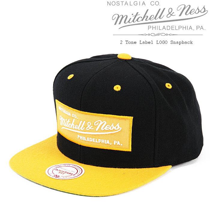 [あす楽]MITCHELL & NESS M&N 2 Tone Label LOGO Snapback Hat Brown/Gold ミッチェル&ネス スナップバックキャップ 帽子 ベースボールキャップ キャップ