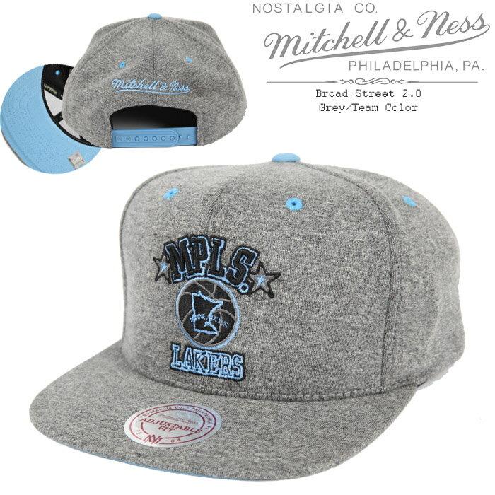 [あす楽]MITCHELL & NESS Broad Street 2.0 Grey/Team Color ミッチェル&ネス スナップバックキャップ 帽子 ベースボールキャップ キャップ