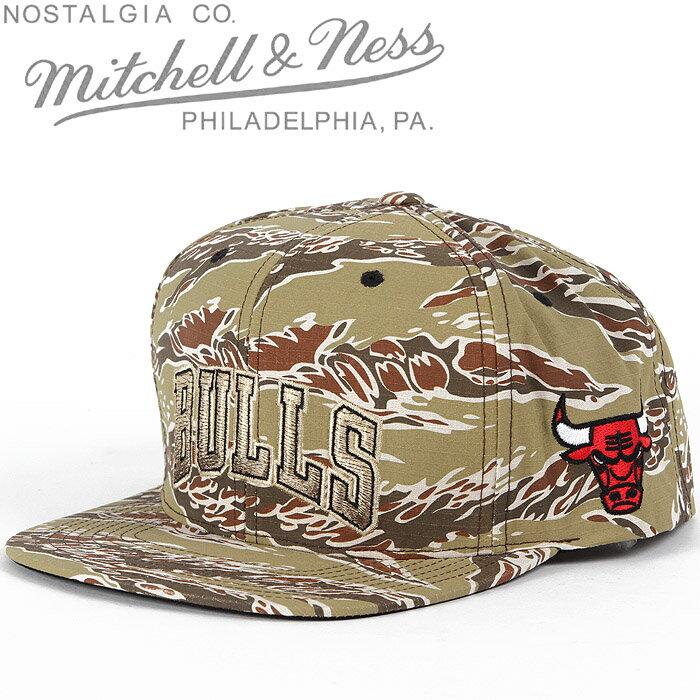 [あす楽]MITCHELL & NESS Chicago BULLS CAMO Snap Back Cap ミッチェル&ネス シカゴブルズ スナップバックキャップ