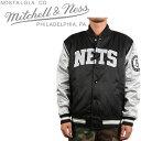 MITCHELL & NESS Brooklyn NETS チームジャケット スタジアムジャンパー スタジャン ミッチェル&ネス ブルックリンネッツ ニューヨーク