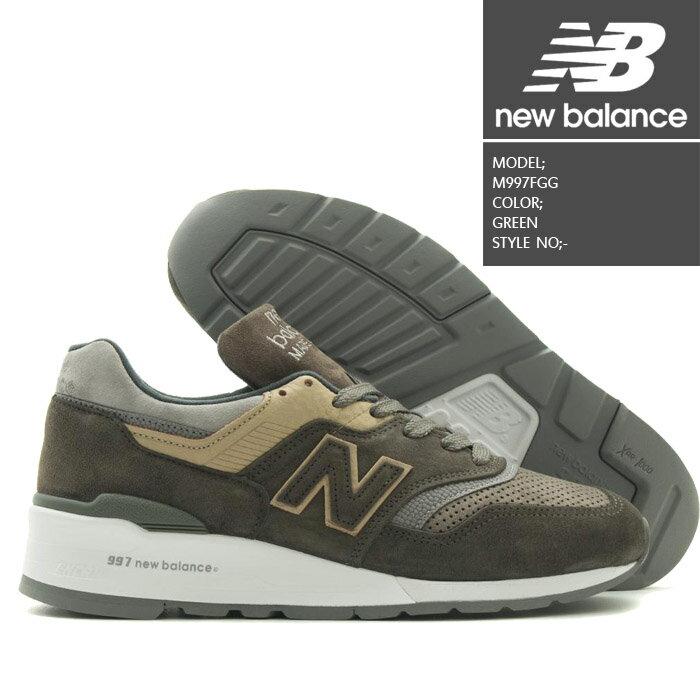 [あす楽]ニューバランス M997FGG GREEN NEW BALANCE 靴 スニーカー ランニングシューズ メイドインUSA アメリカ【S2】