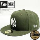ニューエラ 帽子 キャップ NEWERA OLIVE BASIC 59FIFTYFITTED 11941965 New York Yankees ニューヨーク ヤンキース ML…