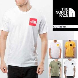 ノースフェイス ボックスロゴT Tシャツ THE NORTH FACE S/S FINE TEE T0CEQ5 半袖Tシャツ 街着 キャンプ アウトドア ロゴ メンズ 男性▲[ホワイト][グリーン][イエロー][ZRC]