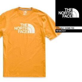 ノースフェイス Tシャツ THE NORTH FACE S/S HALF DOME TEE CITRNYLW NF00CH2T VNTGWT(9LG) ボックスロゴT 半袖Tシャツ 街着 キャンプ 大きいサイズ アウトドア メンズ 男性▲[イエロー][ZRC]