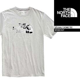 ノースフェイス Tシャツ THE NORTH FACE S/S HALF DOME TEE TNF Light Grey(BB3) NF00CH2T ボックスロゴT 半袖Tシャツ 街着 キャンプ 大きいサイズ▲[グレー]