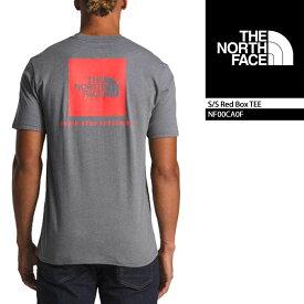 ノースフェイス Tシャツ THE NORTH FACE S/S Red Box TEE TNF Medium Grey Red(AKT) NF00CA0F ボックスロゴT 半袖Tシャツ 街着 キャンプ 大きいサイズ▲[グレー]